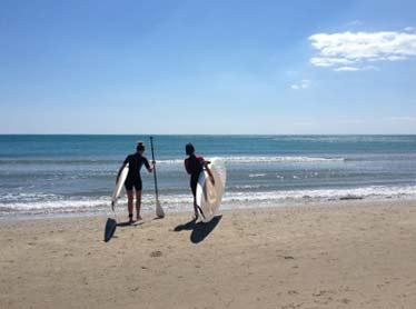 Initiation au paddle à côté de La Grande Motte