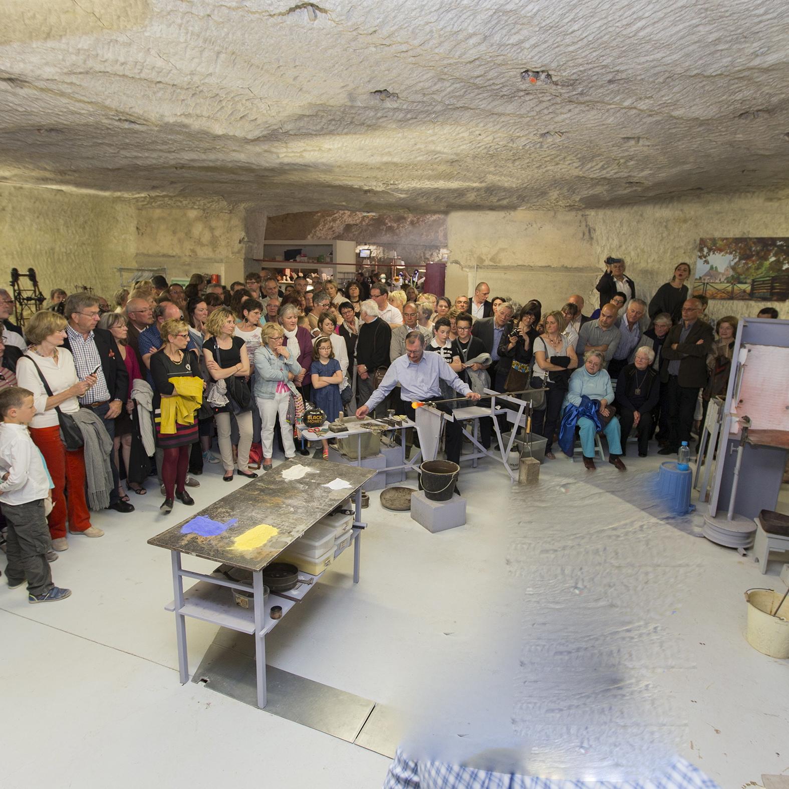 Visite guidée d'un atelier de souffleurs de verre en Touraine