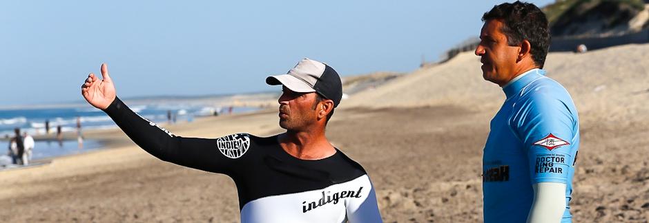 Initiation au surf sur la côte landaise à Biscarrosse