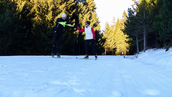 Initiation au skating dans les Pyrénées Catalanes