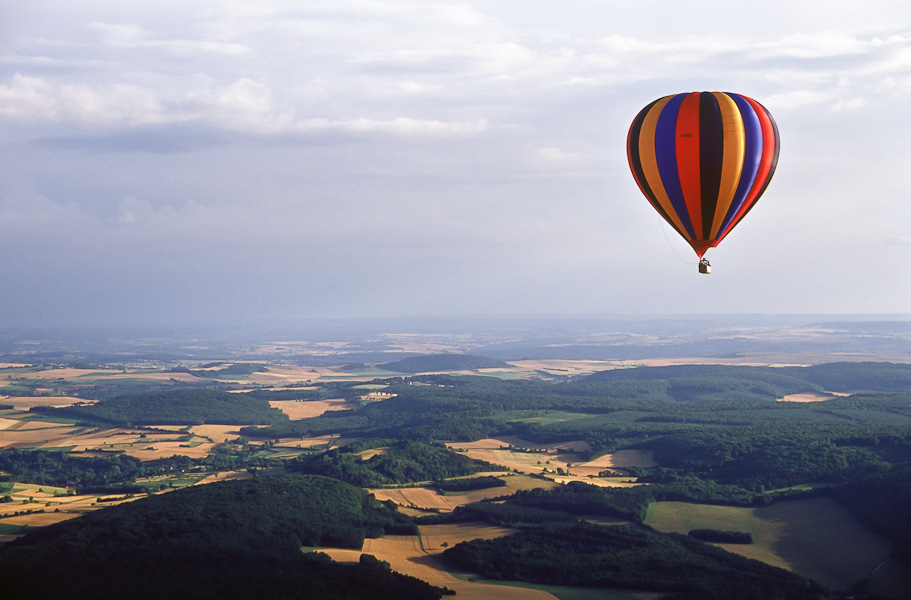 Vol en montgolfière : de Vézelay au parc du Morvan