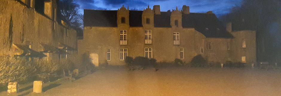 Visite nocturne d'un château à Guérande