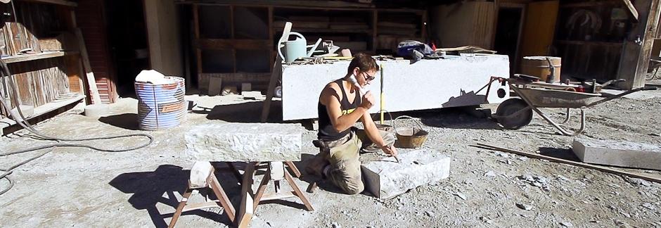 Visite d'une exploitation de granit au Mont-Blanc