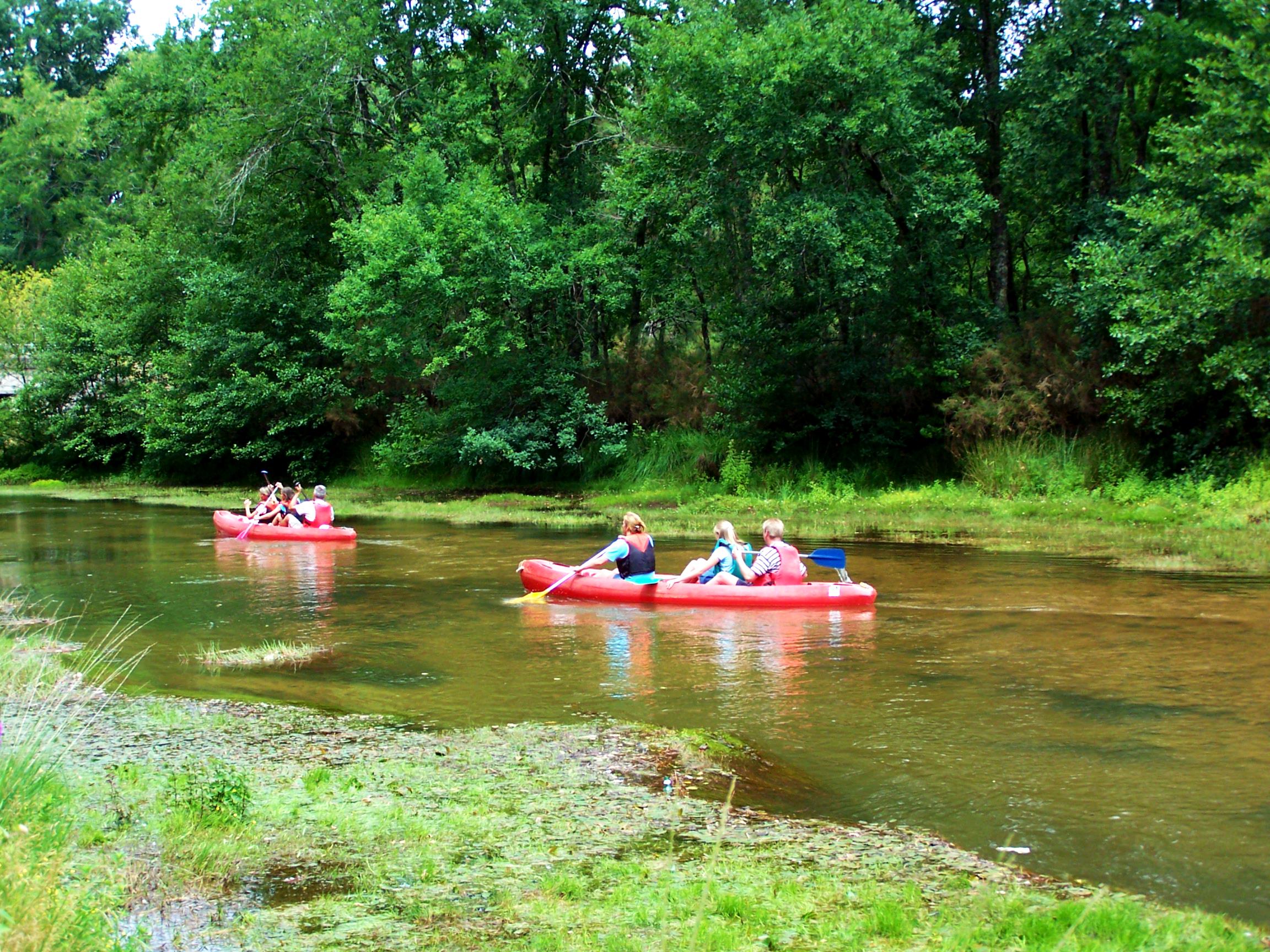 Descente de la Leyre en Canoë-Kayak dans les Landes