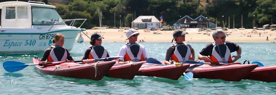 Sortie kayak de mer à la découverte de la nature bretonne