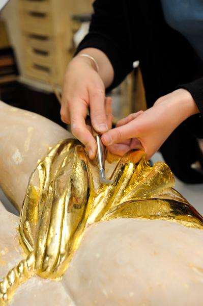 Dorure à la feuille d'or : journée d'Initiation chez un artisan