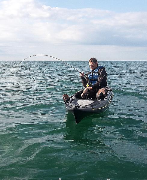 Sortie de pêche en kayak au large des Sables d'Olonne
