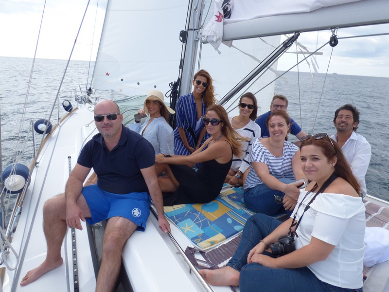 Balade à bord d'un voilier de 14 mètres à la découverte du Cap d'Antibes