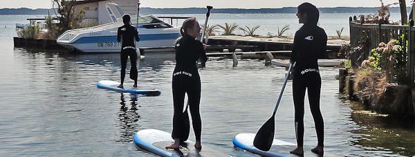 Balade en Stand-Up Paddle sur le lac de Biscarrosse