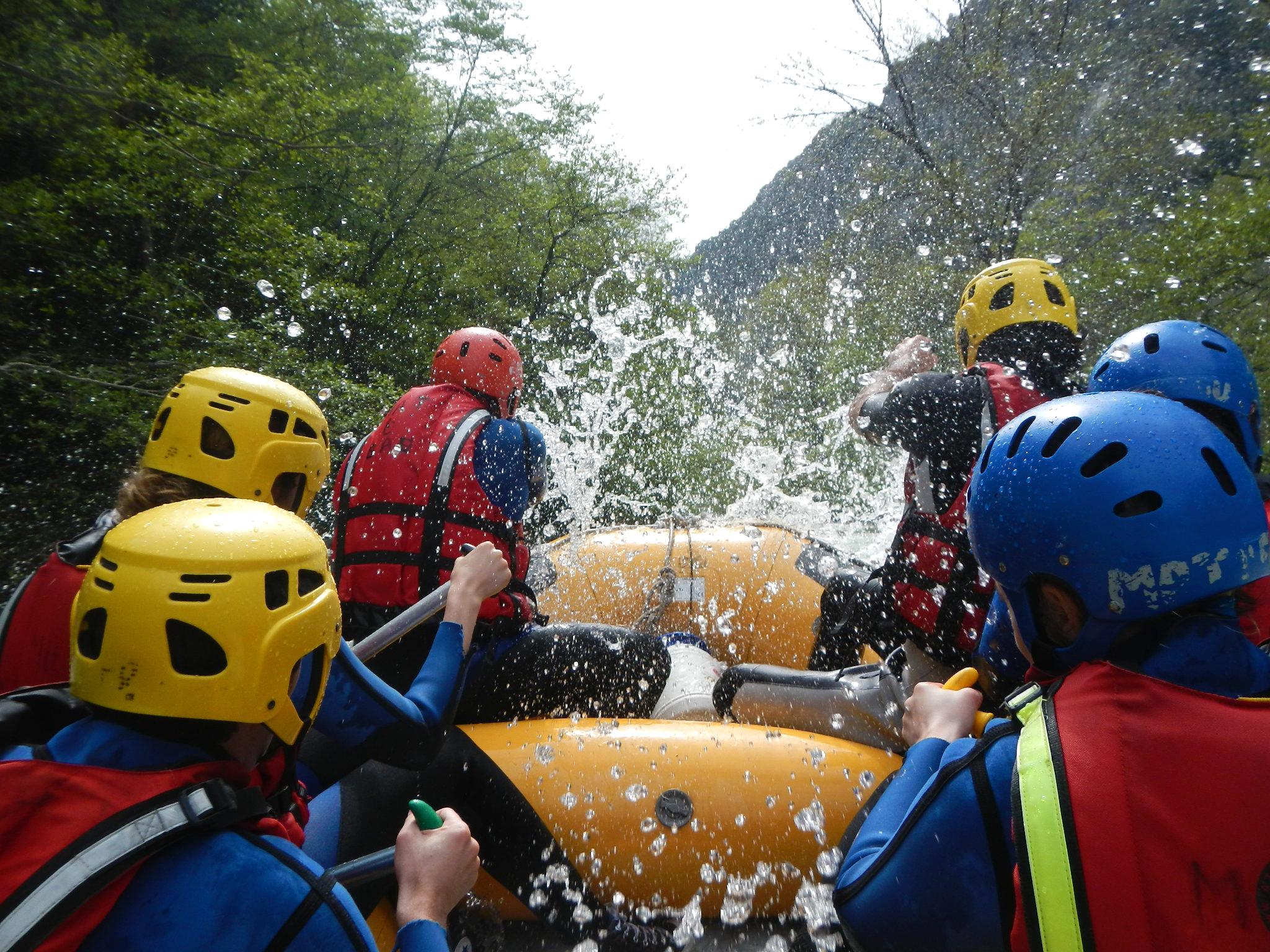Descente en rafting dans les Gorges de la Roya, près de Nice