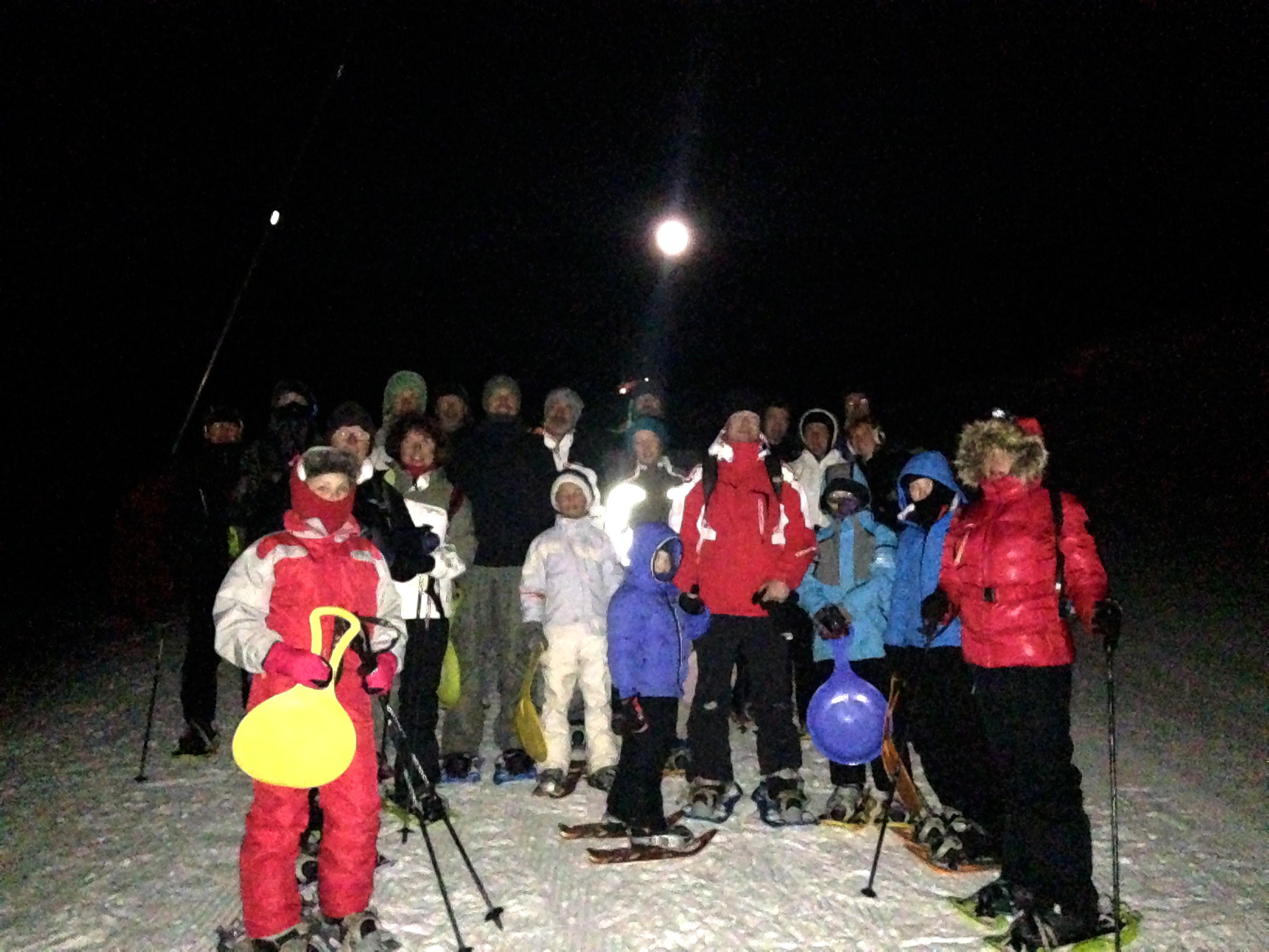 Balade nocturne en raquettes à neige et repas savoyard, en Maurienne