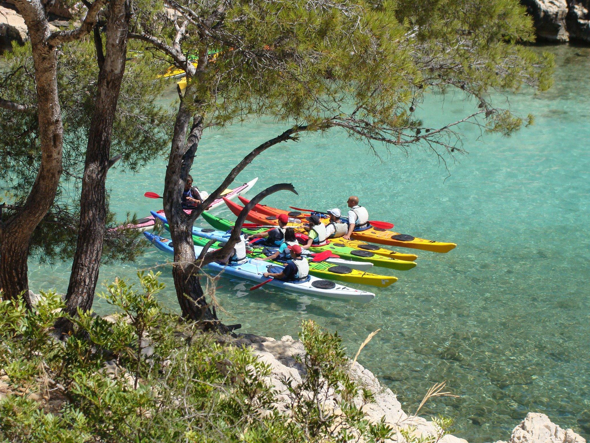 1/2 journée guidée en Kayak à la découverte des calanques