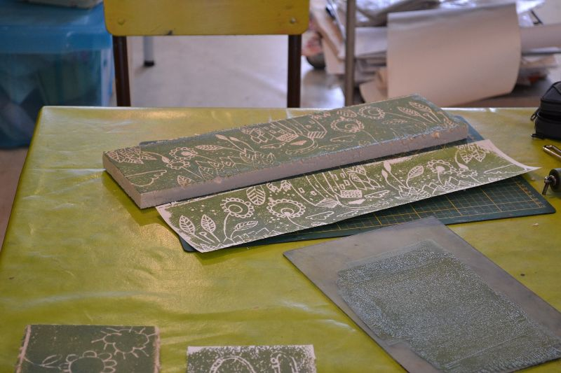 Atelier découverte de la gravure sur polystyrène
