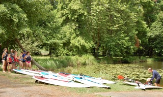 Stand up paddle sur le Lac de Soustons