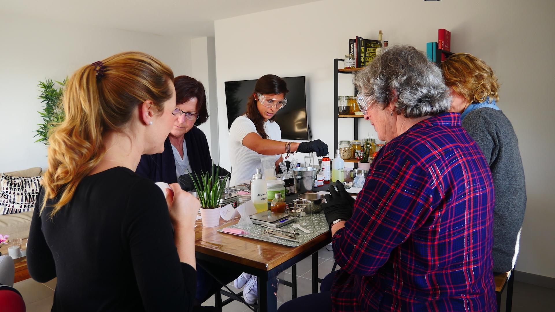 Atelier cosmétique naturel maison DIY à Montpellier