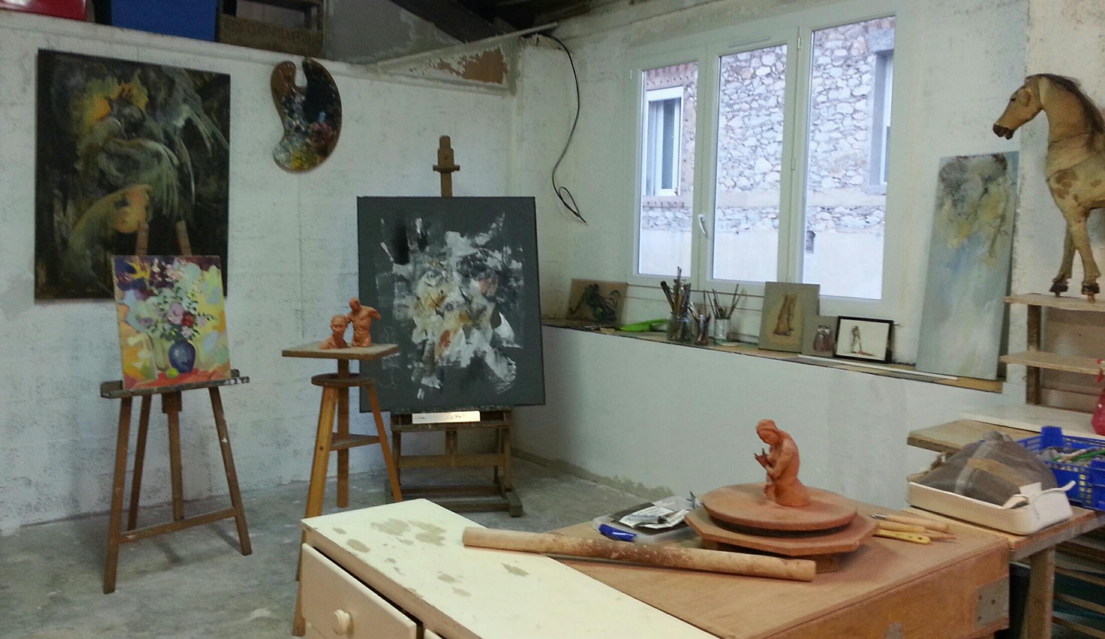 STAGES PEINTURE et MODELAGE, près de Cassis, dans l'Atelier de l'Artiste.