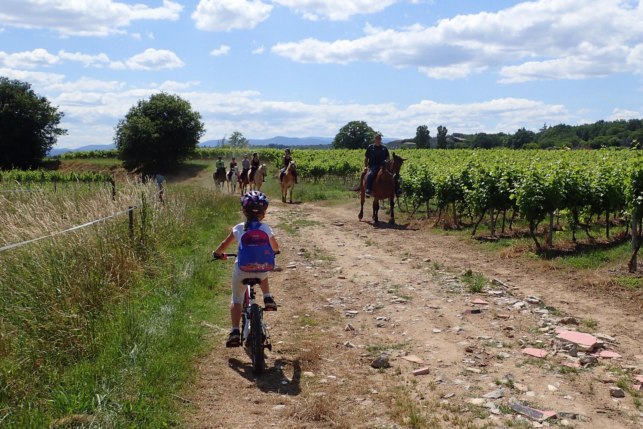 Balade à vélo au Rouret