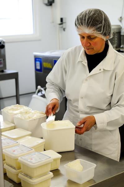 Visite d'une ferme fabricante de glace près de Lyon