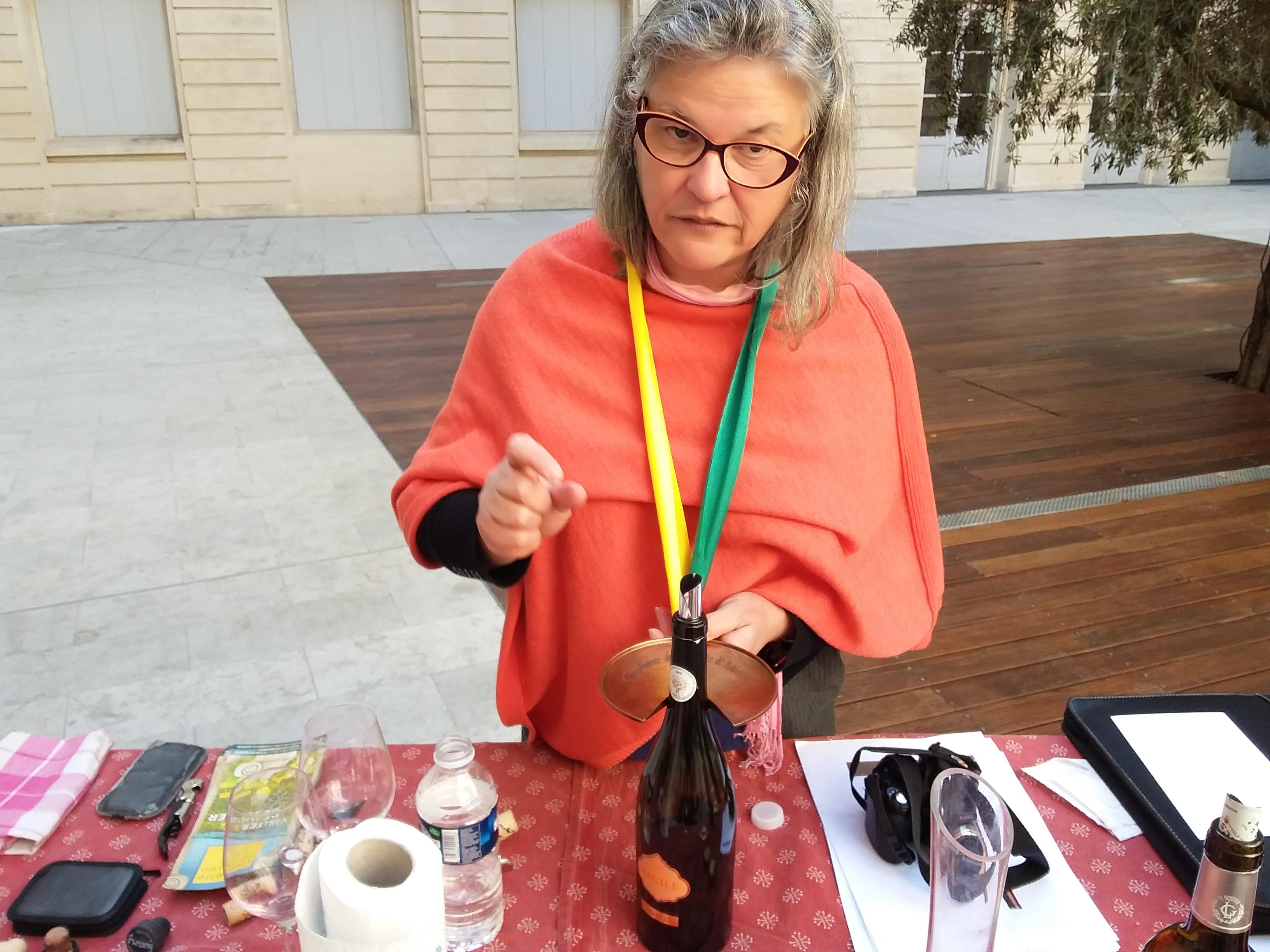 Initiation à la dégustation de vins dans un village de l'Hérault