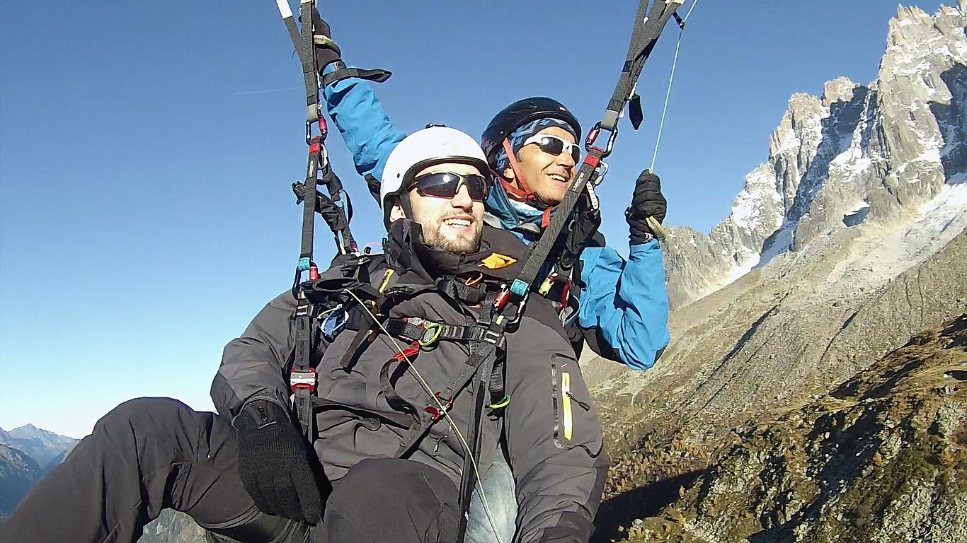 Vol en Parapente sur Chamonix Mont Blanc