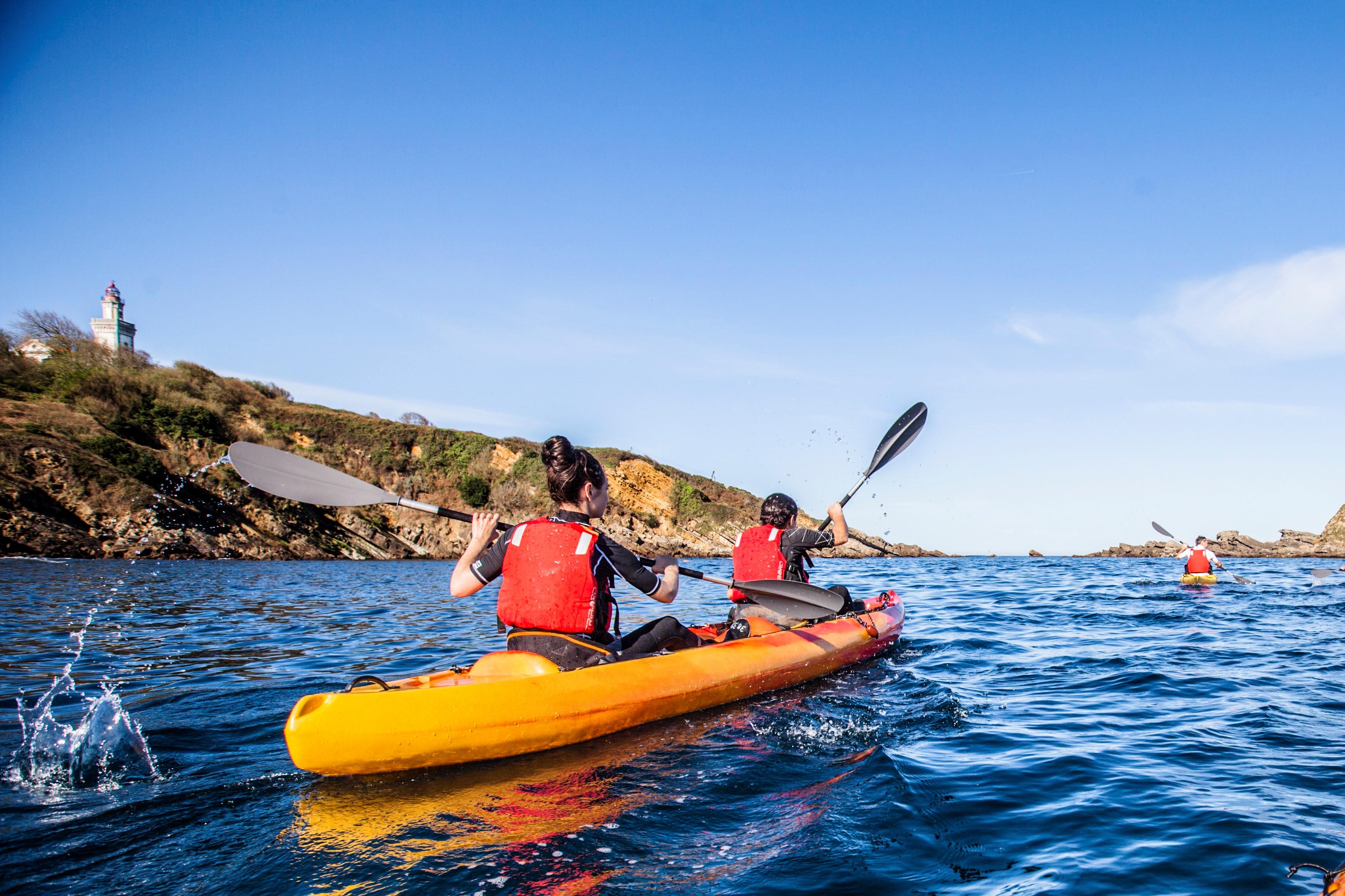 Journée randonnée en kayak de mer ou stand up paddle dans les Calanques Basques