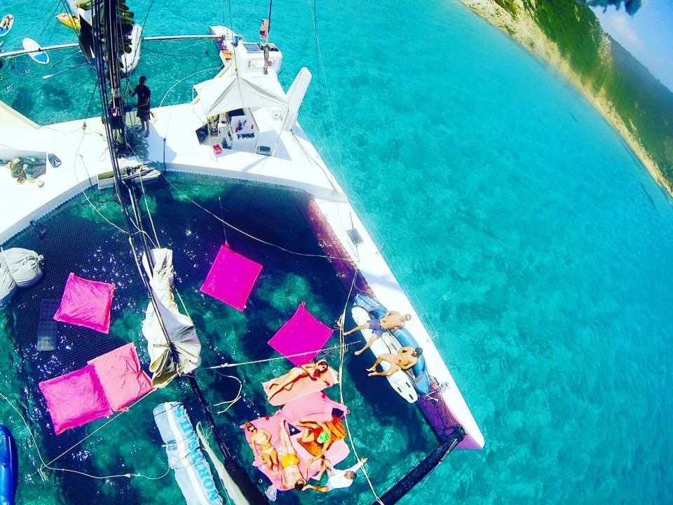 Journée catamaran à Cap Taillat, au départ du Lavandou