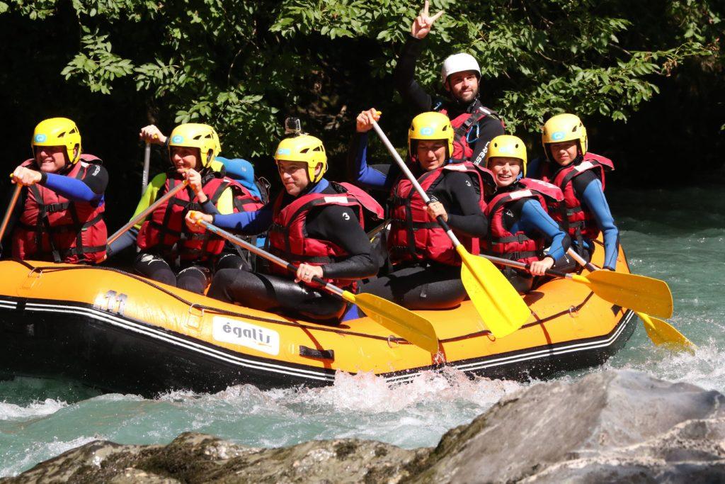 Rafting pour enfant sur l'Isère