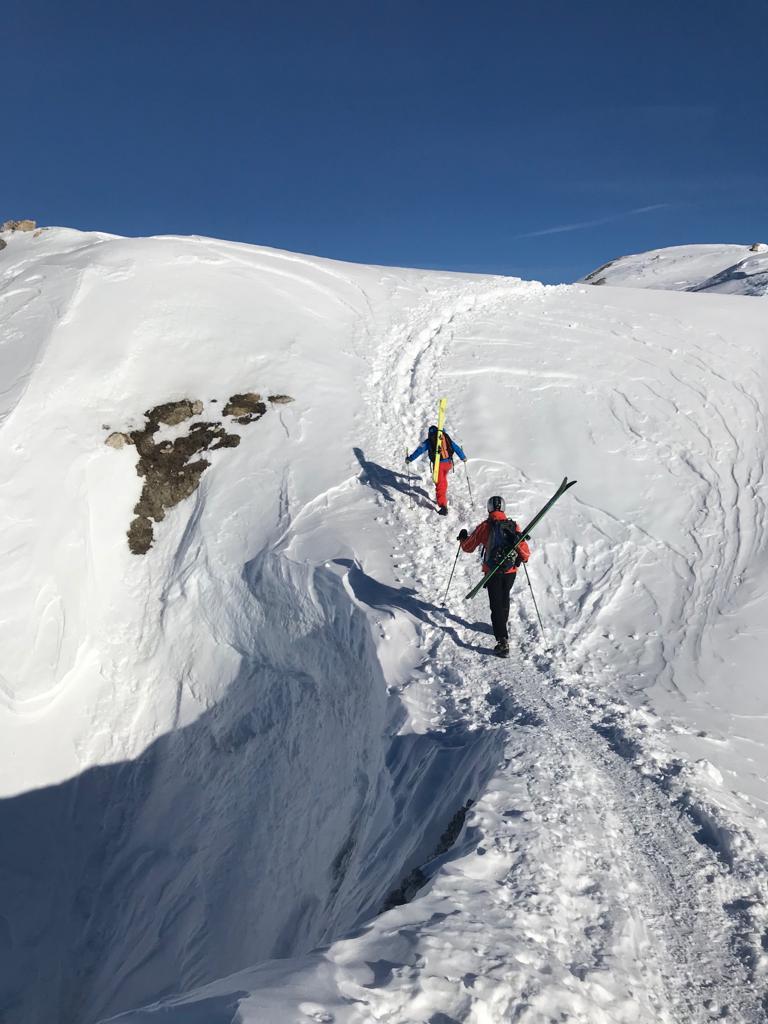 Circuit ski hors piste et randonnée à ski sur Val d'Isère