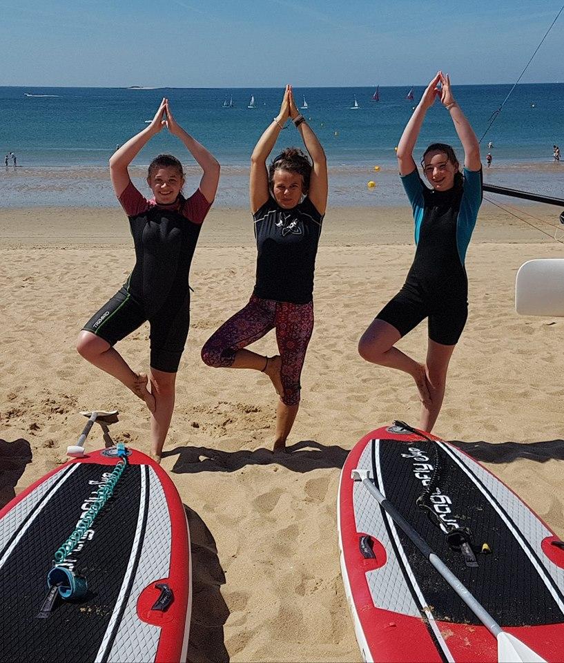Cours de SUP Yoga à la Baule