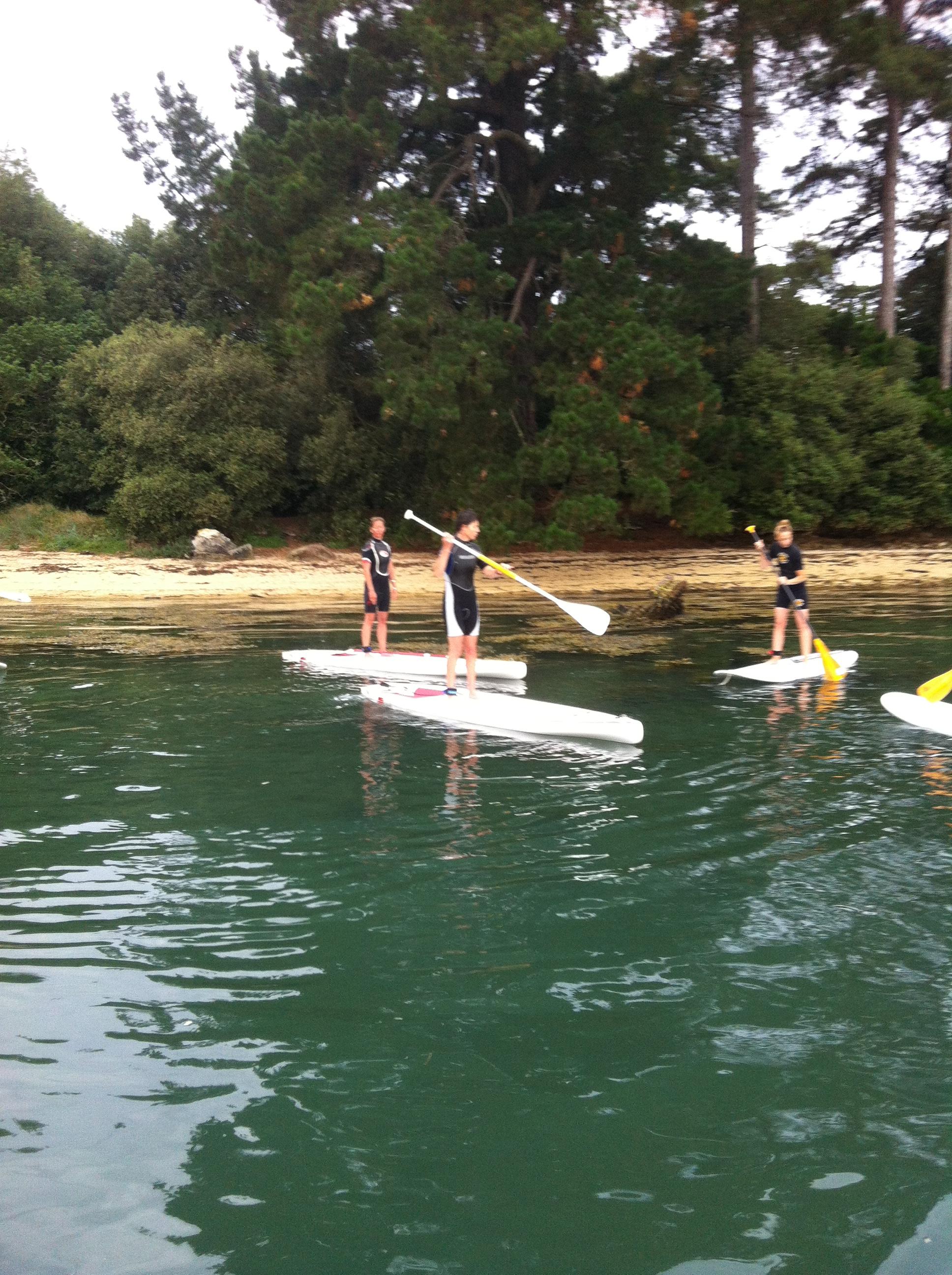 Randonnée yoga paddle en Bretagne