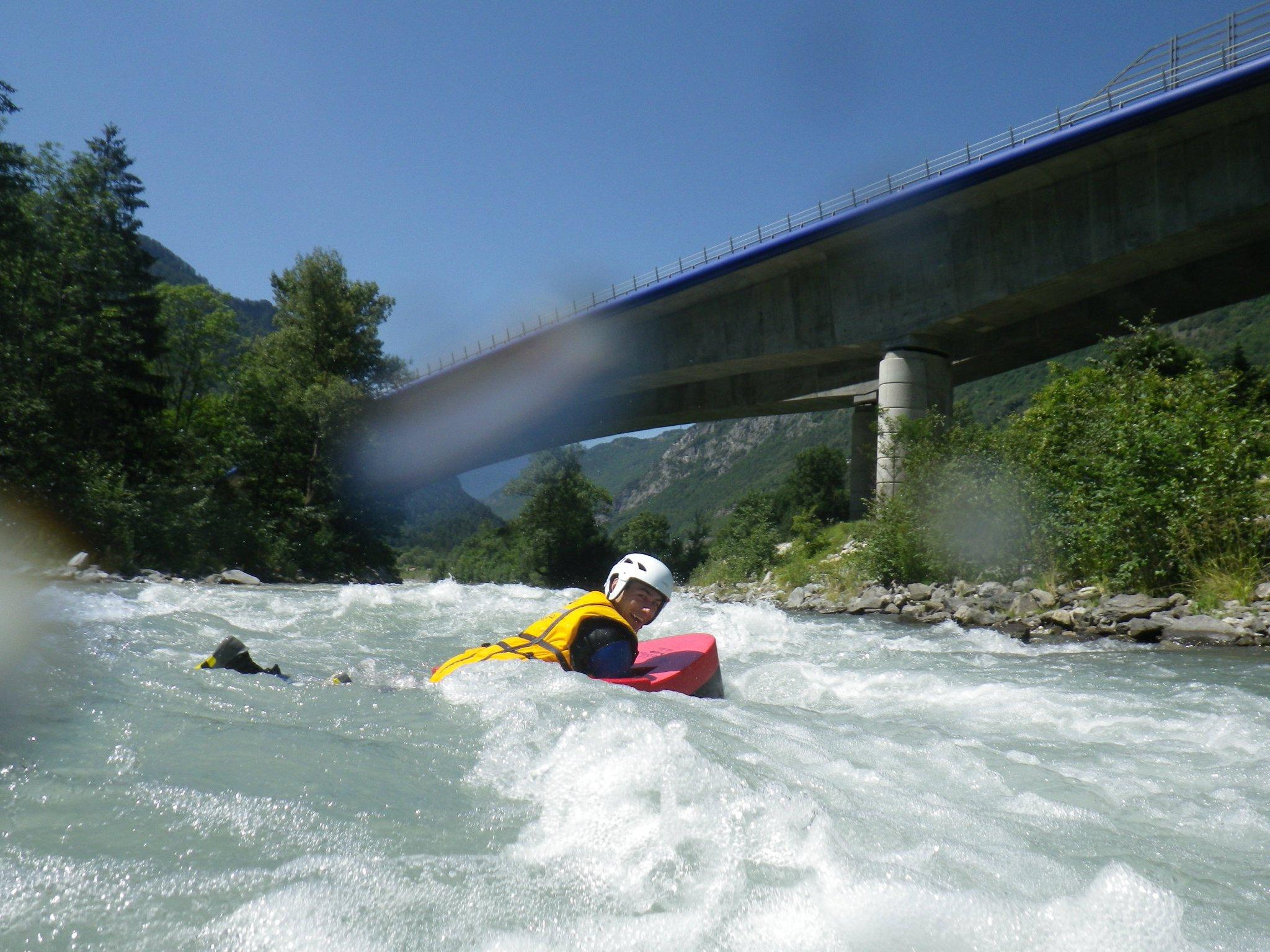 Hydrospeed sur le parcours des Gorges