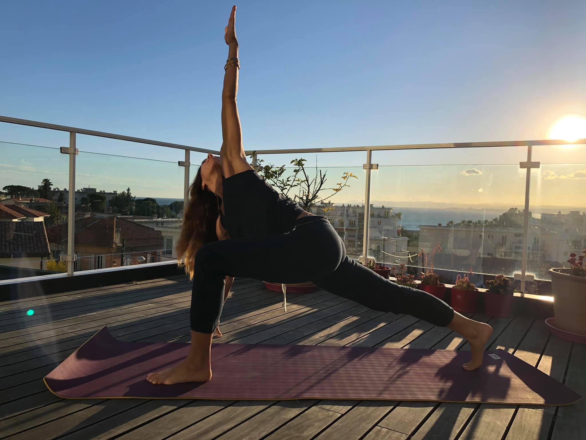 Cours de yoga d'été à Nice