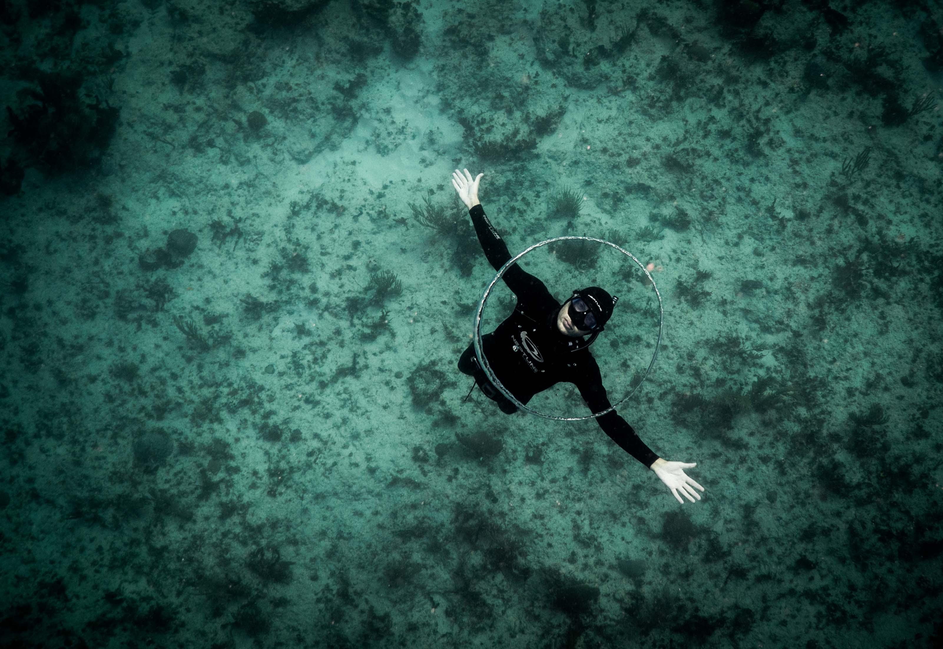 Baptême d'apnée sous-marine