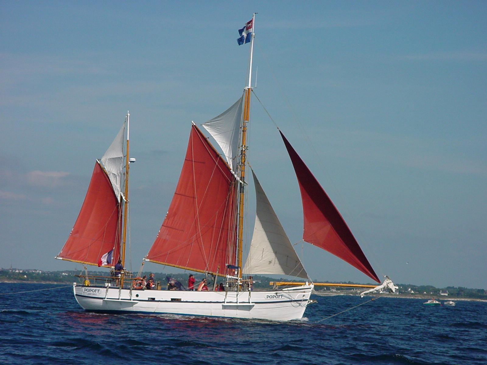Croisière à la voile dans le Finistère-sud