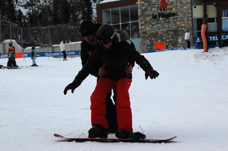Cours privés de snowboard sur La Plagne