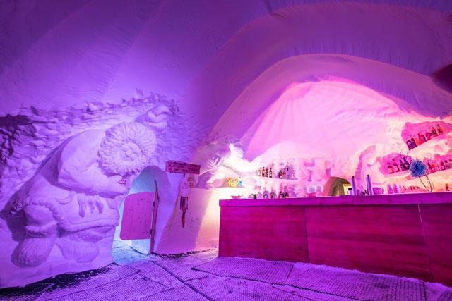 Apéritif Givré dans un igloo sur Val Thorens