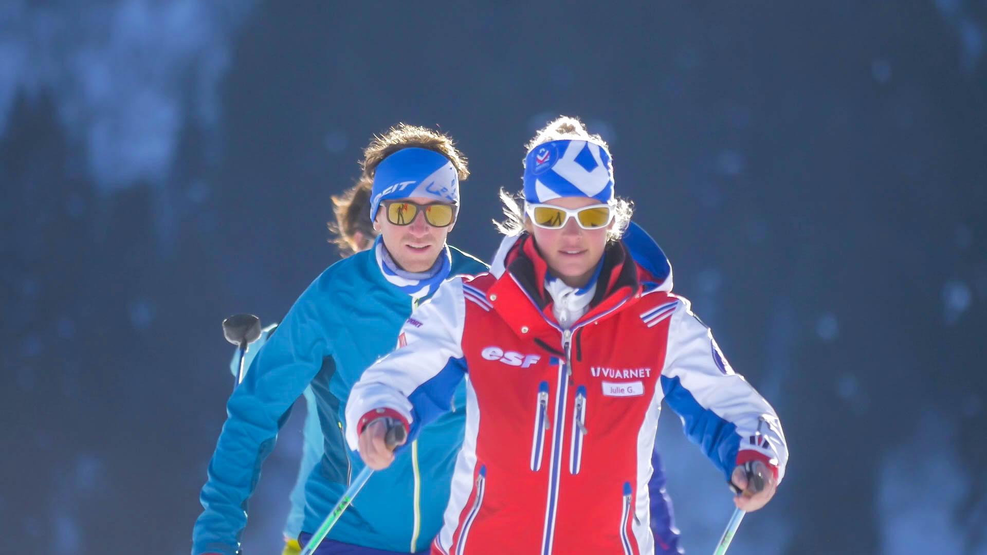 Sortie en ski nordique sur Méribel