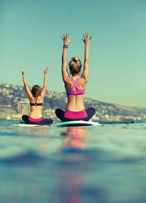 Cours de Paddle Yoga au Pays Basque