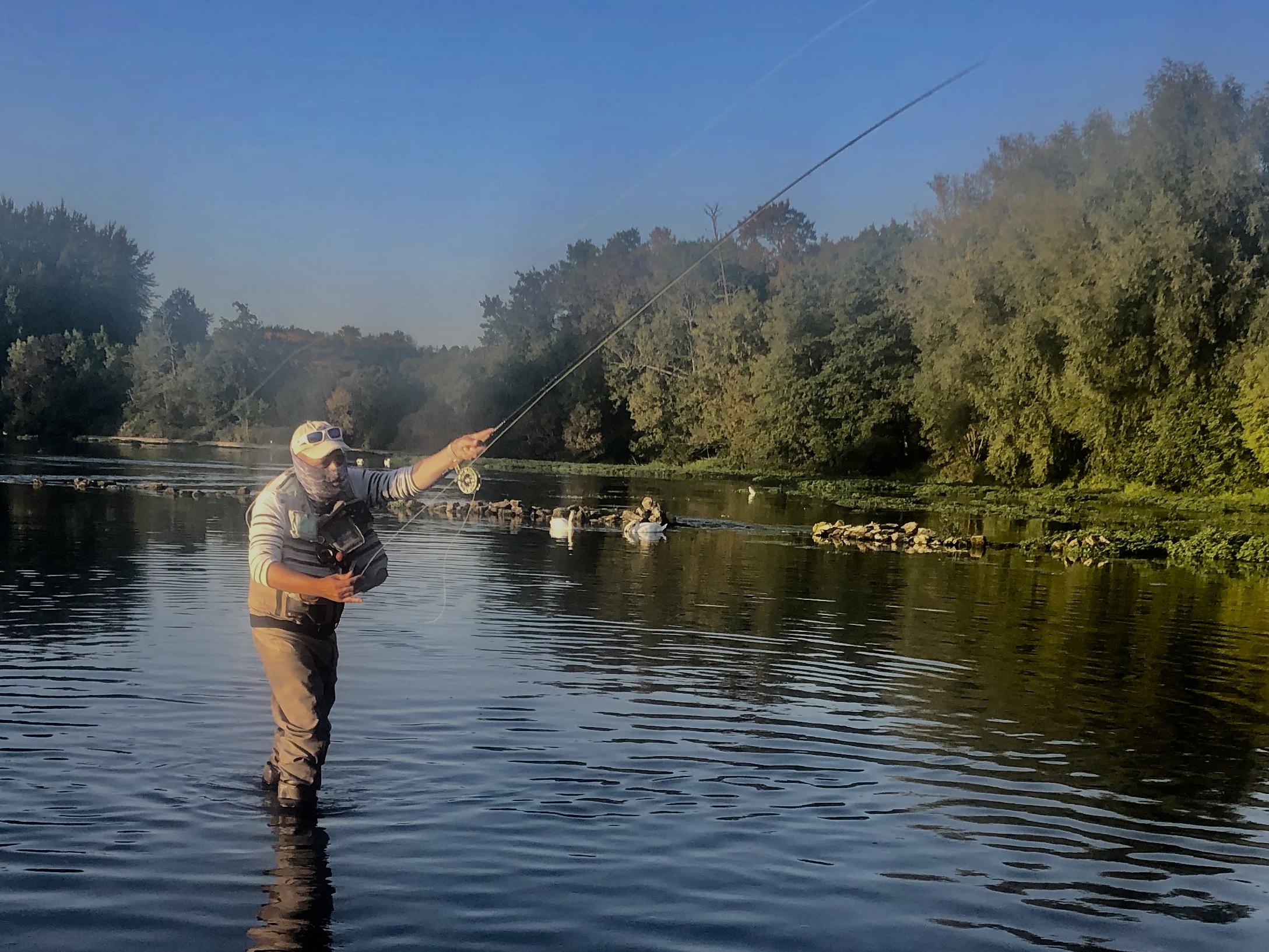 Cours de pêche  à la mouche sur La Touvre