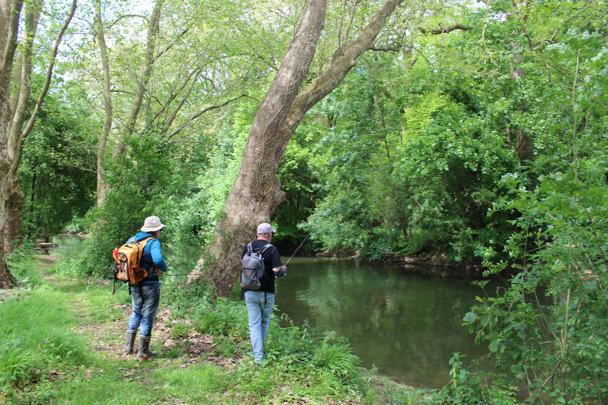 Cours de pêche dans le Marais Poitevin