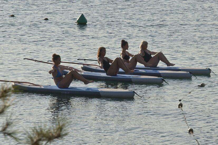 Paddle Pilates dans le Pays Basque
