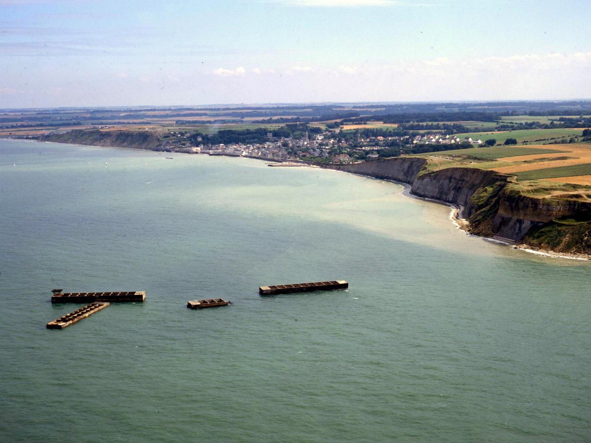 """Vol panoramique en hélicoptère """"les plages du débarquement"""""""