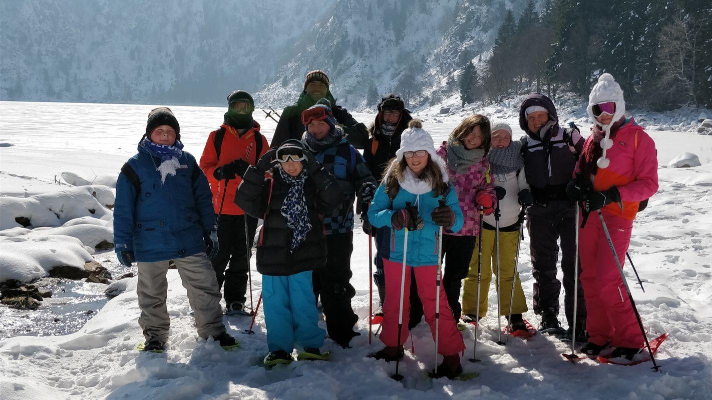 Sortie famille en raquettes à neige au Lac Blanc