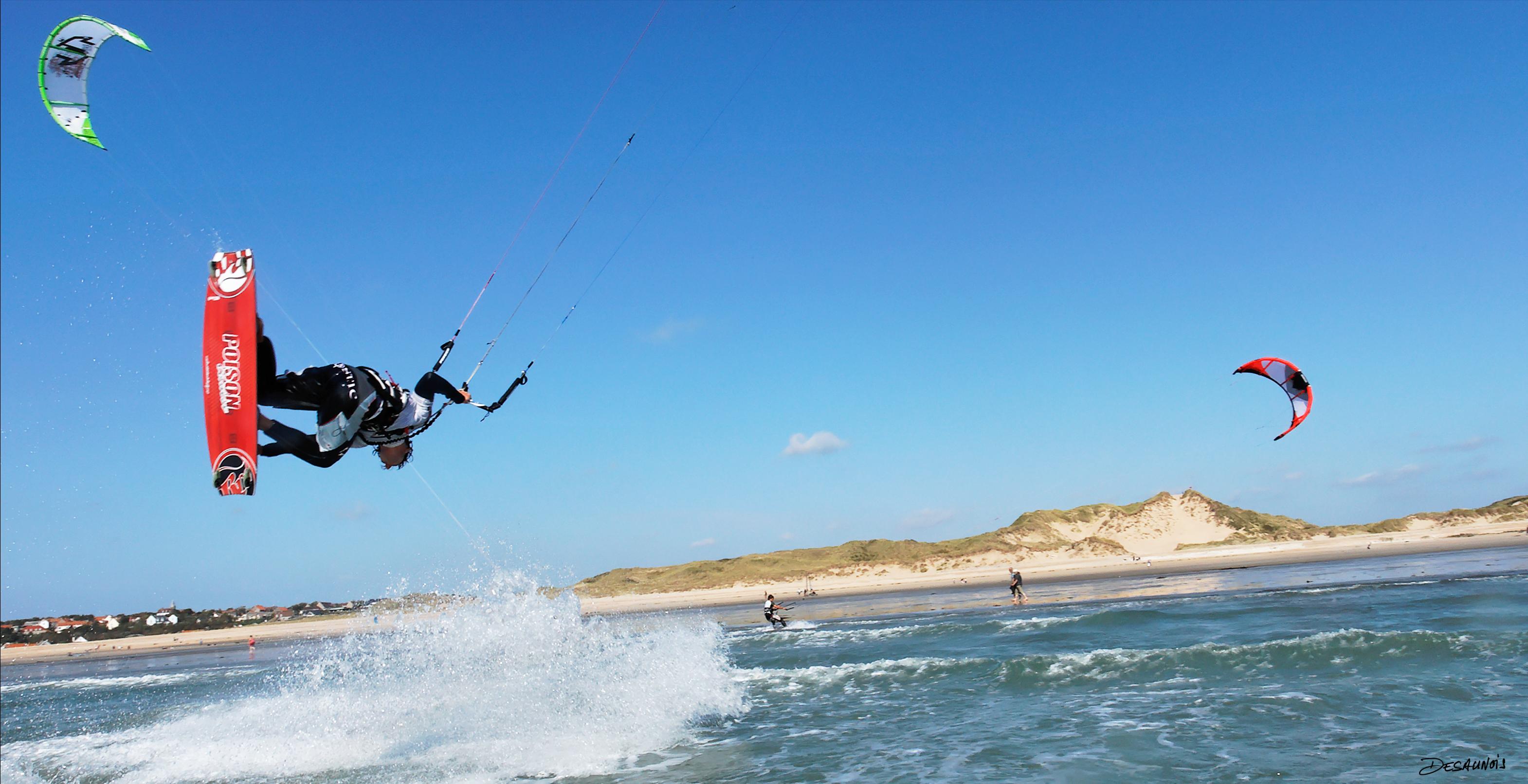 Initiation au kite surf sur les eaux du Pas-De-Calais