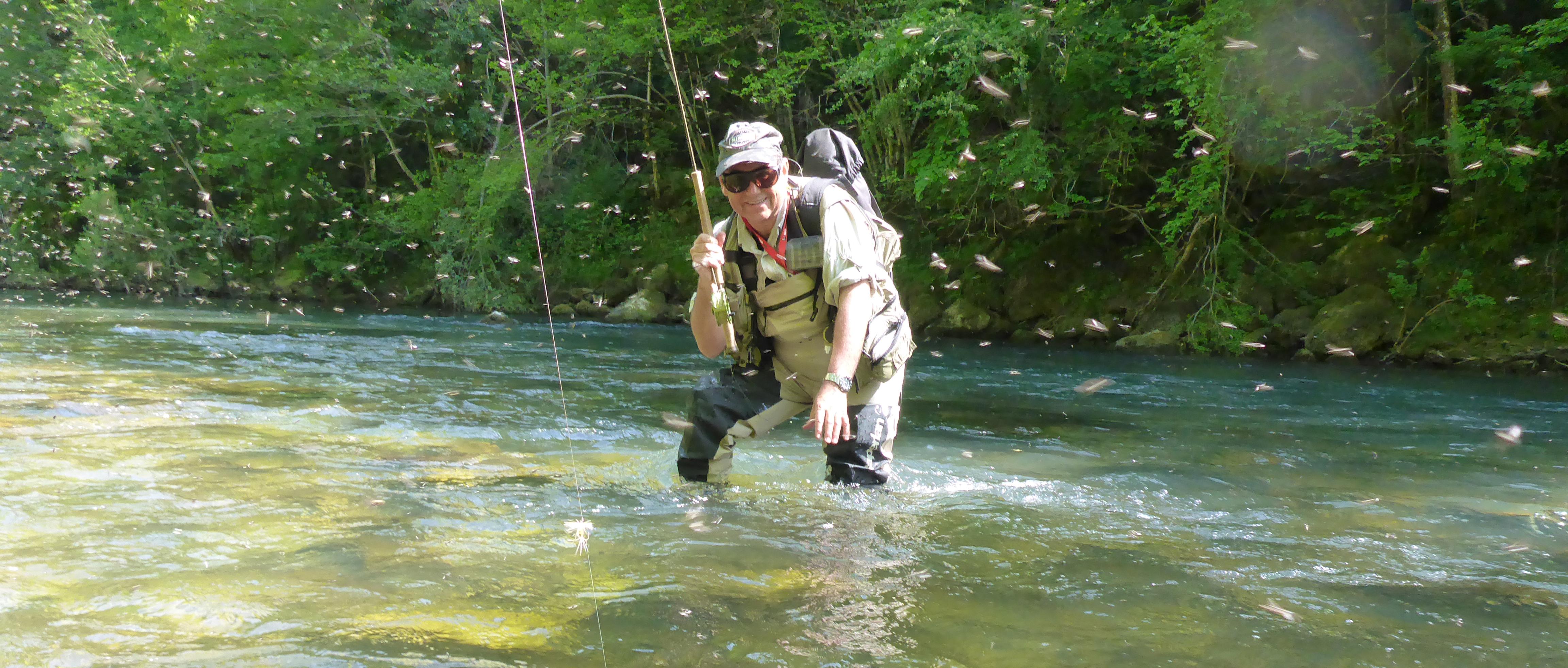 Initiation à la pêche à la mouche dans le Pays Basque