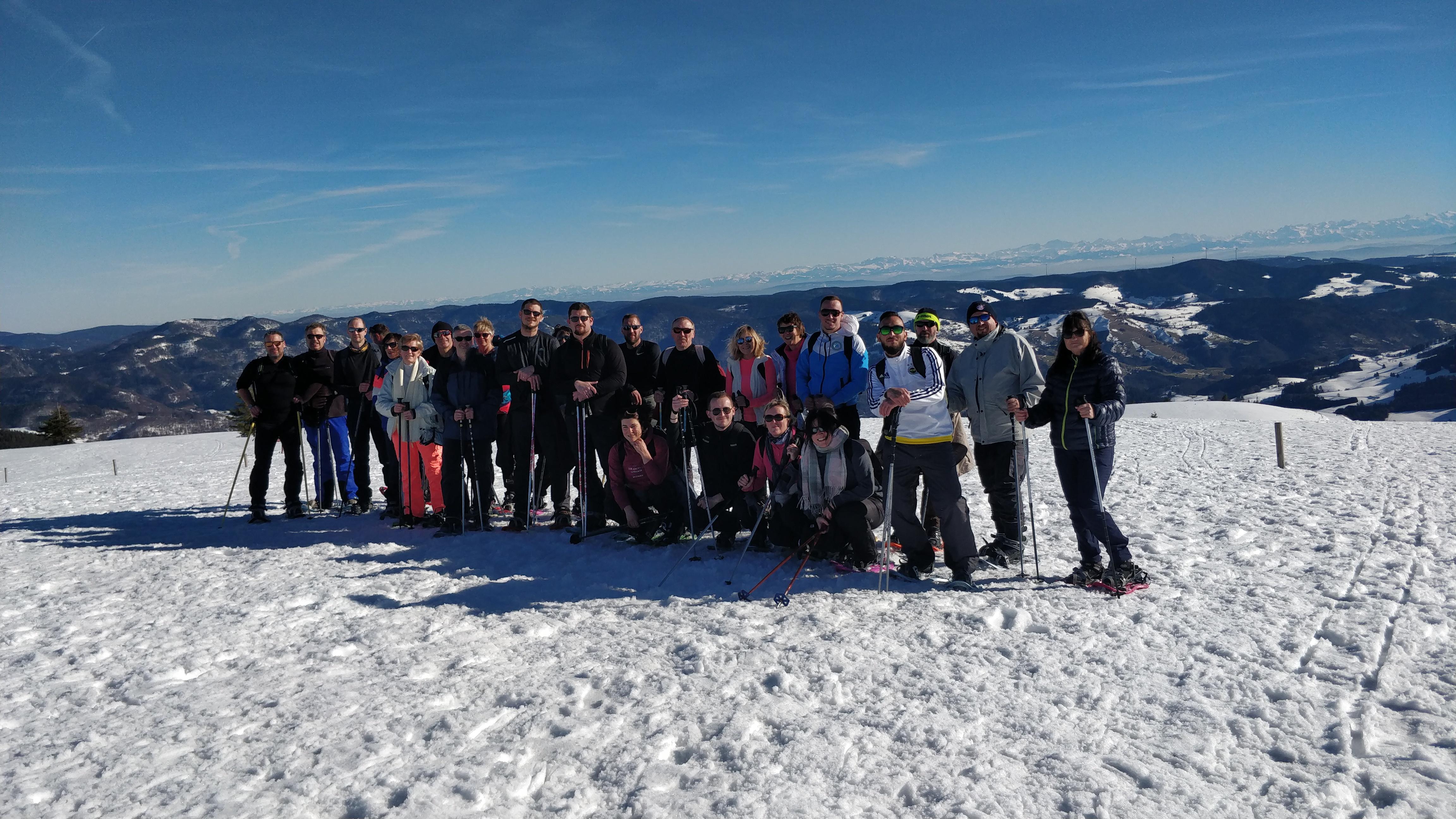 Balade en Raquettes à neige  au Felberg