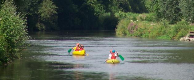 Balade en canoë sur circuit à Picquigny