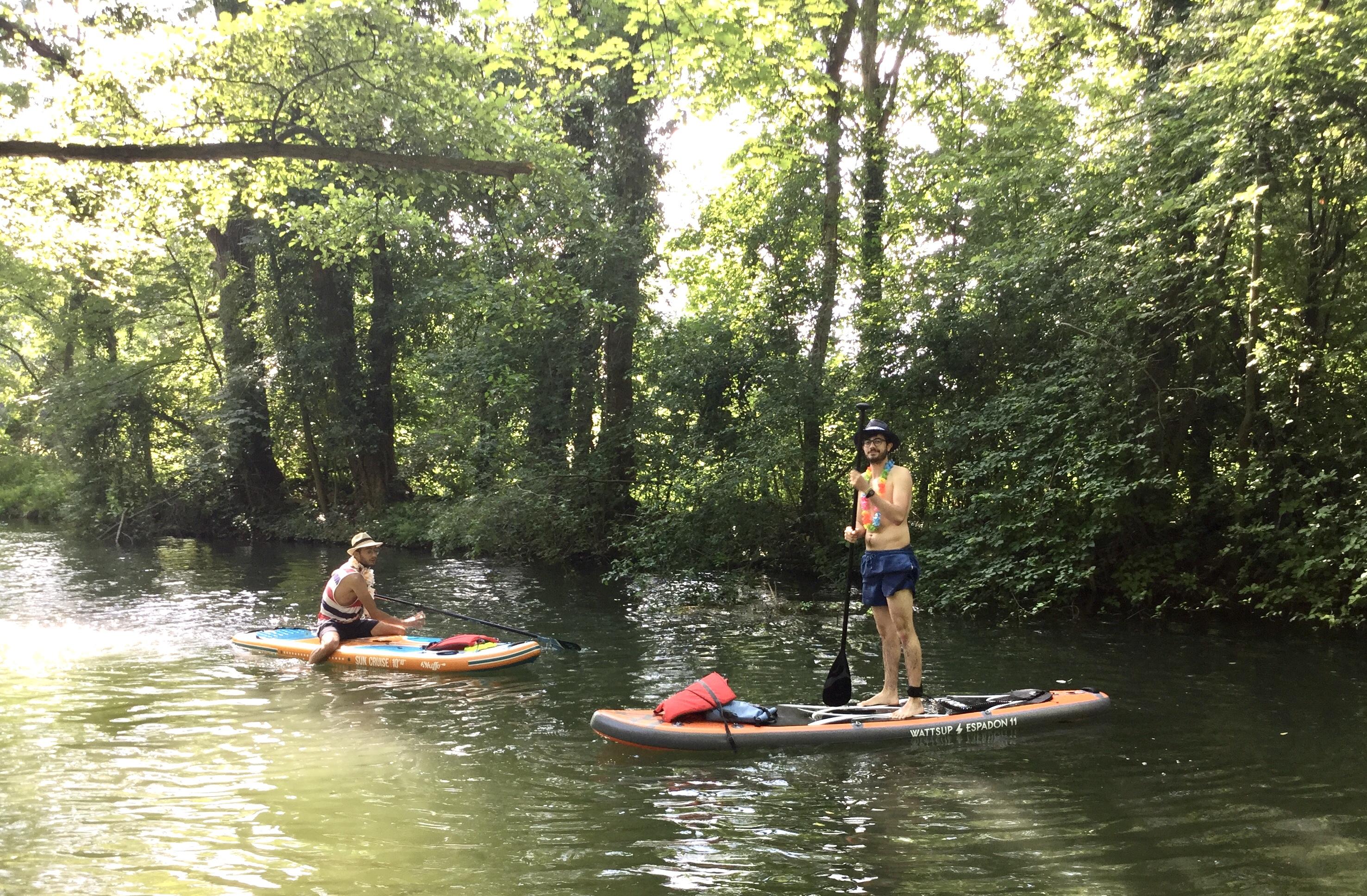 Balade sur le Rhin Tortu en Paddle