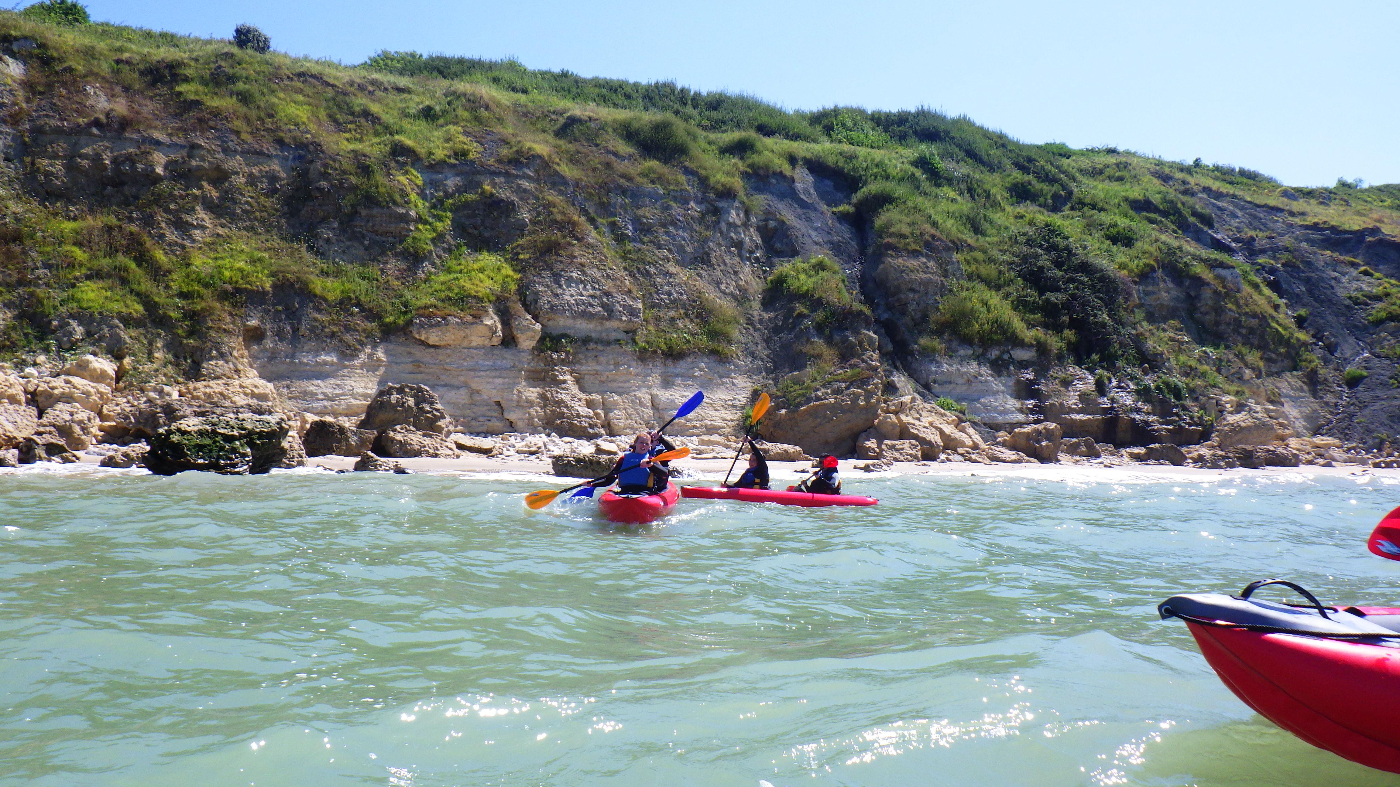 Randonnée kayak à la découverte des Falaises des Roches Noires