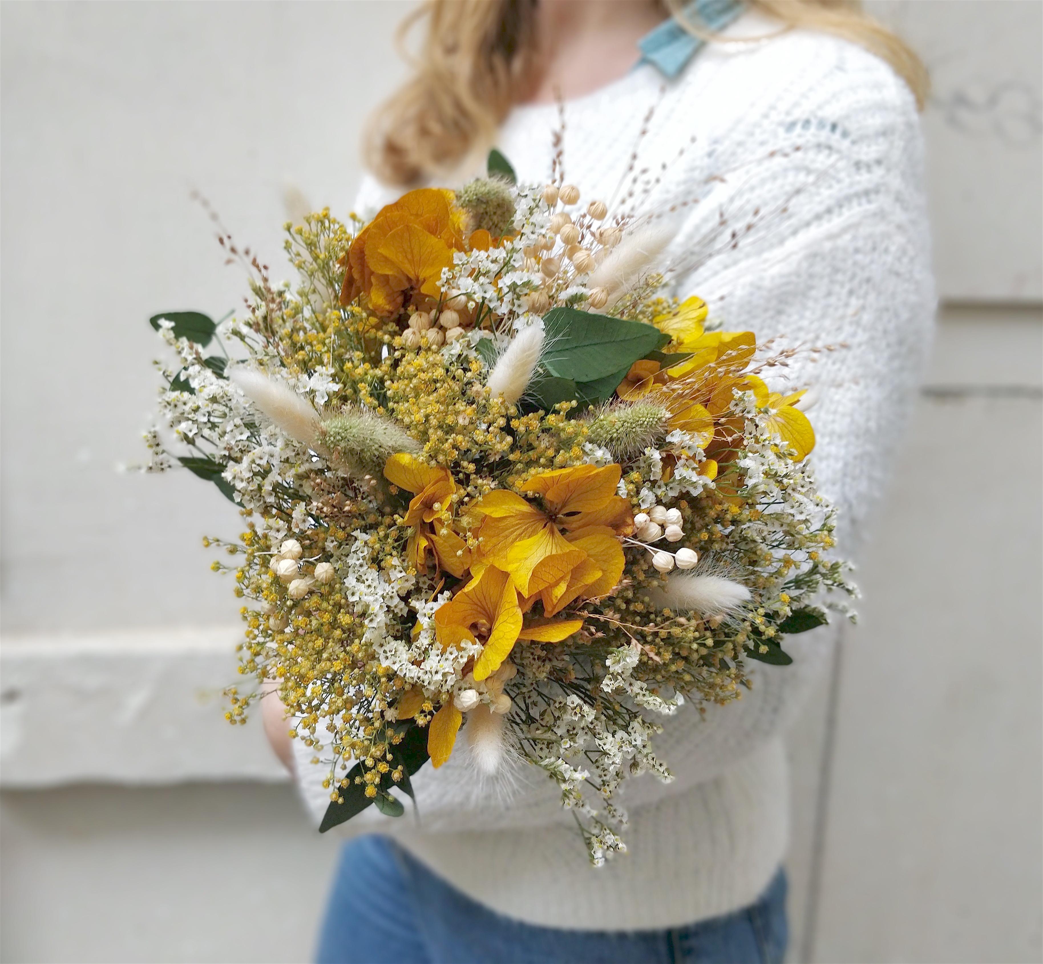 Expérience DIY fabrication d'un bouquet en fleurs éternelles à Paris